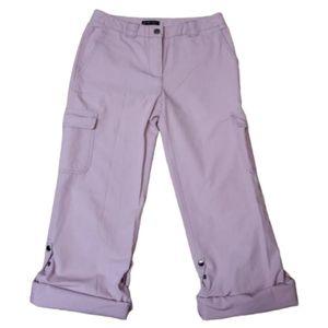 New York & Co Purple Roll Up Cargo Pants Women's 2